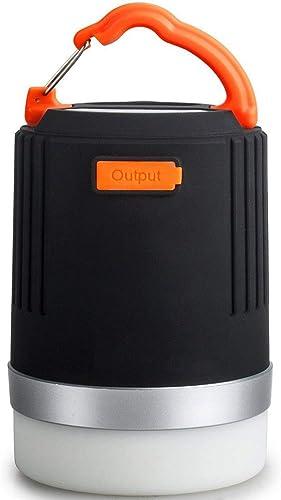 2 en 1 LED Camping lanterne USB rechargeable lumière d'urgence 10400Mah Super Bright IP65 étanche lumière avec SOS fonction stroboscopique d'urgence adapté pour camping randonnée