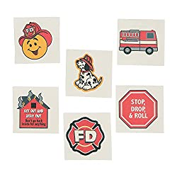 Image: Fun Express Fireman Fire Safety Temporary Tattoos For Kids, 72 Count
