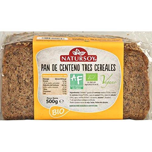 Natursoy Pan Centeno 3 Cereales Eco, 500 g