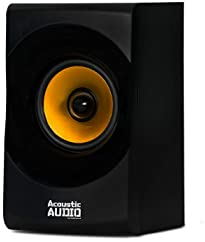 Acoustic Audio by Goldwood Bluetooth 2.1 Speaker System 2.1-Channel Home Theater Speaker System, Black (AA2170)
