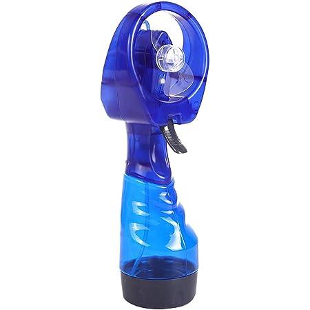 HUI JIN Mini ventilateur de brumisation portable avec humidificateur de refroidissement personnel rechargeable pour la maison, le bureau et les voyages Bleu