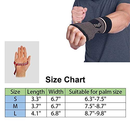 Faletony Wrist Strap Adjustable Wrist Support Thumb Bandage Breathable Wrist Support Wrist Support for Sports and Daily Life (L)