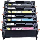204A CF510A CF511A CF512A Cf513a Cartucho De Tóner Compatible con HP Color Laserjet Pro M154a M154nw M180N Impresora M181FW,4 Piece Set