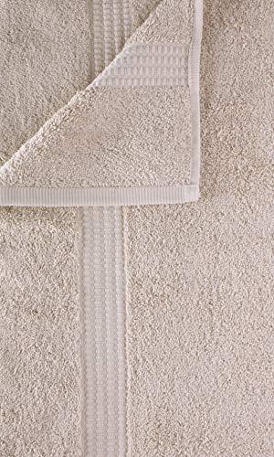 PimpamTex - Asciugamano Premium 700 gr Bagno Extra Large 100% Cotone 100x150 cm - Sabbia