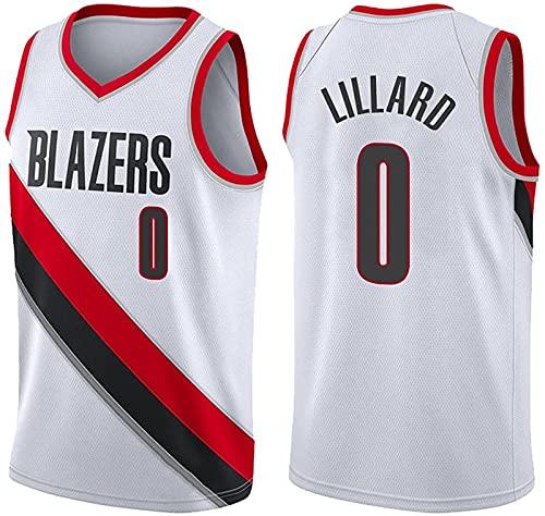 xzl Trail Blazers #0 Lillard Camiseta de baloncesto para mascotas NBA Boys Youth Basketball Jersey sin mangas, camiseta deportiva Swingman, color blanco – XL