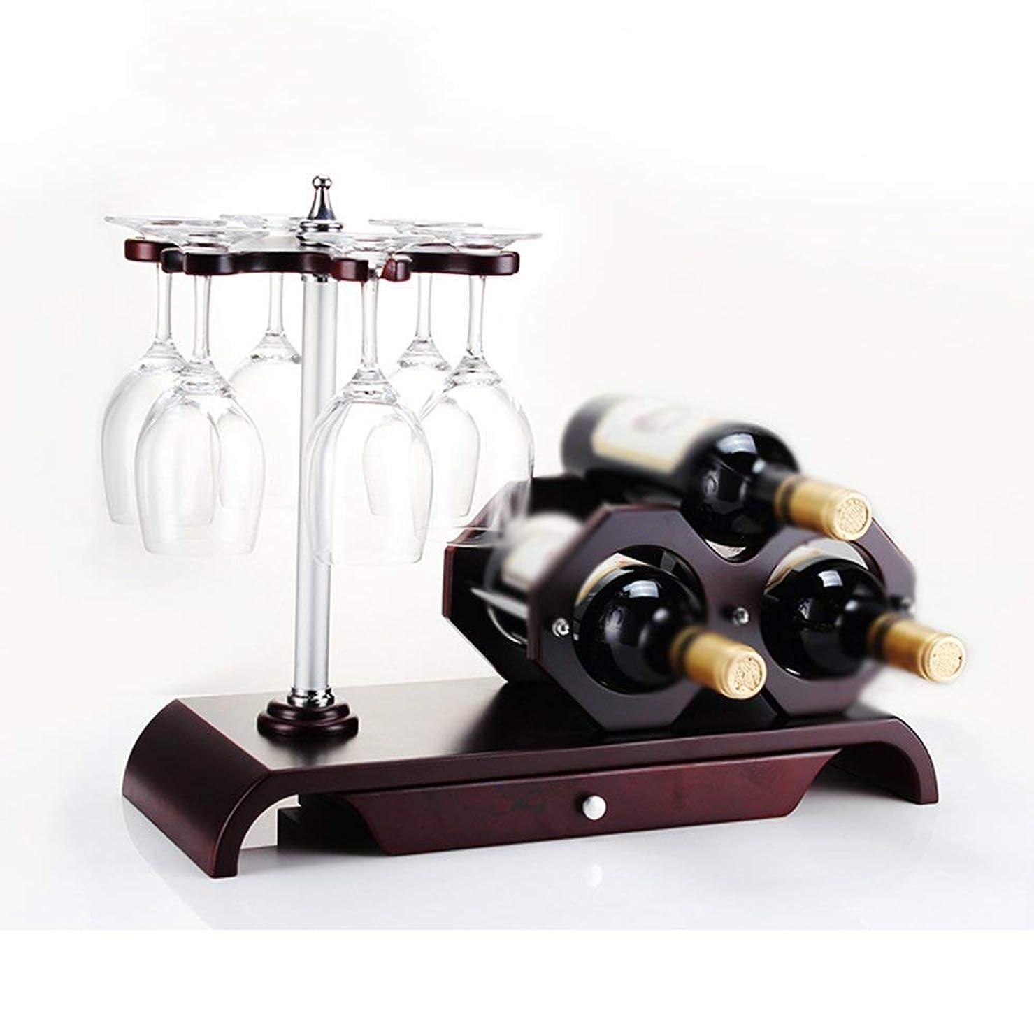 姿勢ポーチ消費するXixuanStore リビングルームのワインラック、レストランのワインラック、装飾的なワインラック、ワインラックの合成ワインレッドの装飾1つに古典的なスタイルとカップホルダーをインストールするのは簡単任意のスペースを補完する (Color : A)