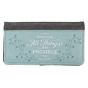 All Things Teal LuxLeather Checkbook Cover – Matthew 19:26