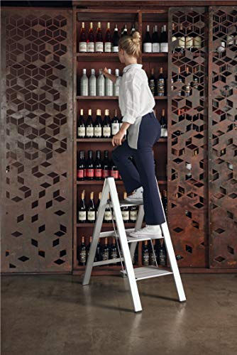 Hasegawa Ladders Slim Step Ladder, 3, White