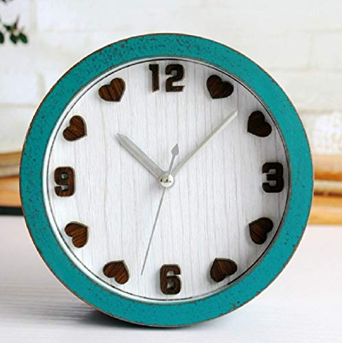 ksjdjok Nachahmung Holz al Fajr Uhr Retro Relogio de Madeira Reloj Alarm Wohnkultur Holz Holz Uhren Saat Tabelle Klok despertador