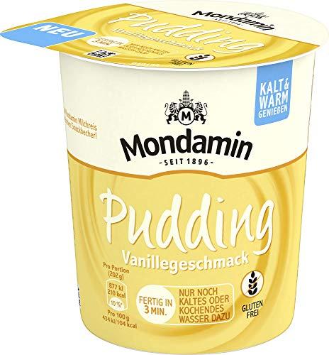 Mondamin Pudding mit Vanillegeschmack im Snackbecher (glutenfrei und vegetarisch) 8er Pack (8 x 52 g)