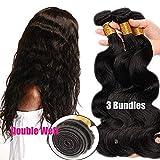 Extensiones de Cortina de Pelo Natural Brazilain Human Hair 3 Bundles (20 20 20 inches)