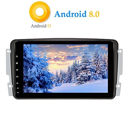 XISEDO Android 8.0 Autoradio In-Dash 8 Pulgadas Radio de Coche RAM 4G ROM 32G Car Radio Estéreo Navegación de Automóvil para Mercedes-Benz CLK W209/C Class W203/ Viano/Vito/ Vaneo/A-Class W168