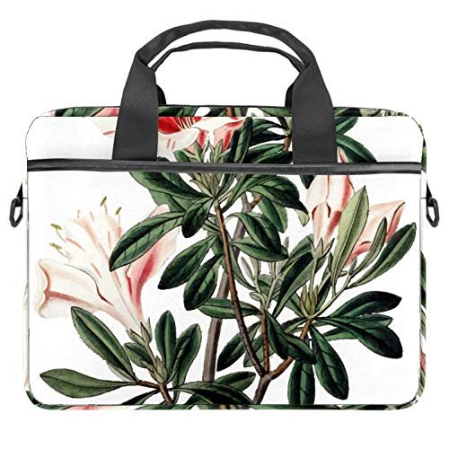 Laptop Bag Spring Flower Floral Notebook Sleeve with Handle 13.4-14.5 inches Carrying Shoulder Bag Briefcase