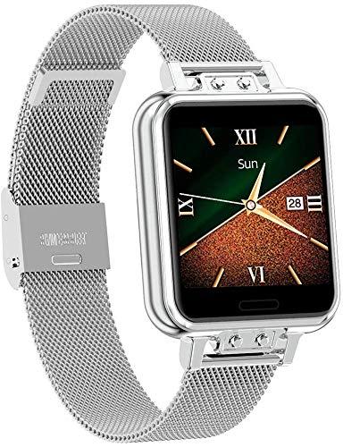 Smartwatch, Reloj Inteligente Impermeable IP67 para Mujer, Pulsera de Actividad Inteligente con Monitor de Sueño Contador de Caloría Pulsómetros Podómetro Reloj Deportivo para Android iOS