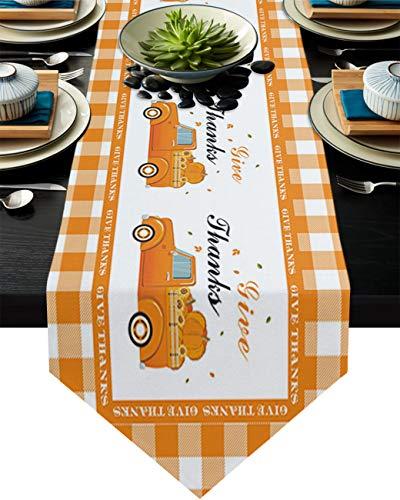 Sayingin - Mantel de mesa para decoración de fiestas, diseño de calabaza, para cumpleaños, boda, cocina, comedor, fiesta, decoración de fiesta, o vestidor, color naranja
