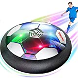 Hover Soccer Ball Kids Toys Rechargeable - Indoor LED Light Up Air Power Kick Disc Fun Game Upgraded Foam Bumper Perfect Birthday Children's Day Gifts for Toddler Kids (No AA Batteries Needed)