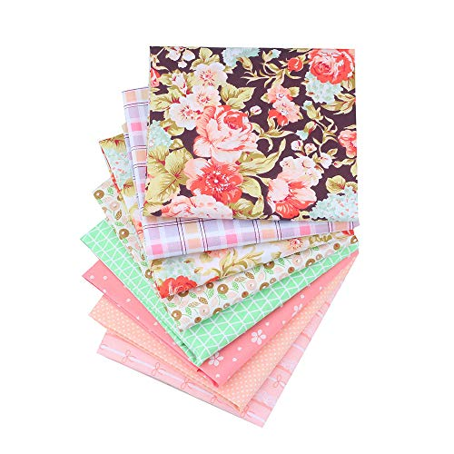 ShuanShuo New Series Cotton Fabric Quilting Patchwork Fabric Fat Quarter Bundles Fabric for Sewing DIY Crafts Handmade Bags 40X50cm 8 pcs/lot
