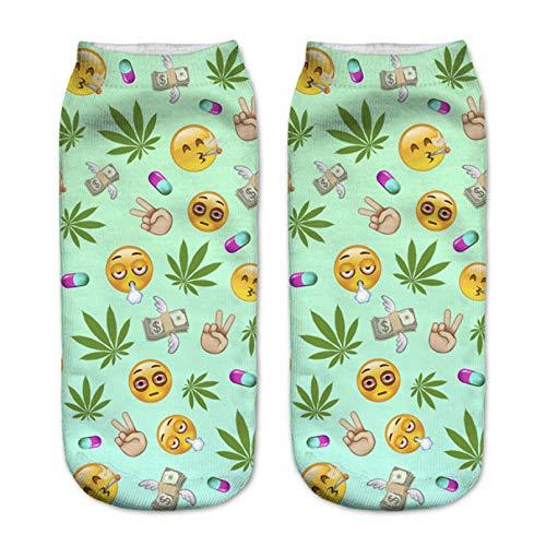 Ankle Socks 3D Printed Women Socks Low Cut Ankle Socks Cactus In Pot Colour Women's Casual Brand Socks