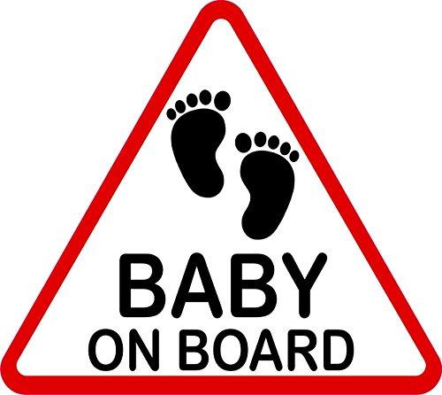 carstyling XXL Aufkleber Baby on Board dreieckig 115 x 130 mm ~ schneller Versand innerhalb 24 Stunden ~