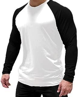 Magiftbox Men's Long Sleeve Seamless Pullover Sweatshirt Lightweight Active Jogging Running Workout Muscle Shirts T14