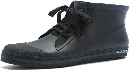NgMik botas De Agua Lluvia Impermeables Al Aire Libre zapatos de Agua para mujeres al Aire Libre Bajas de Lluvia de Damas de Baja Ayuda Antideslizantes botas de Lluvia de Goma verdes (tamaño   43 EU)