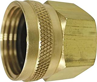 """Rocky Mountain Goods Double Female Swivel Hose Connector - 3/4"""" Female Hose to 3/4"""" Female Pipe - Heavy Duty Brass - Leak prevent design - For use with pressure washers or garden hoses"""