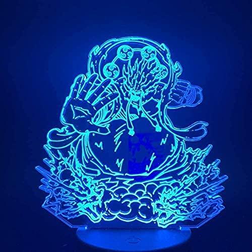 Luce notturna dei bambini Lampada illusione 7 colori dimmerabile USB Powered Touch miglior regalo per bambini ragazze ragazzi / 7 colori di tocco