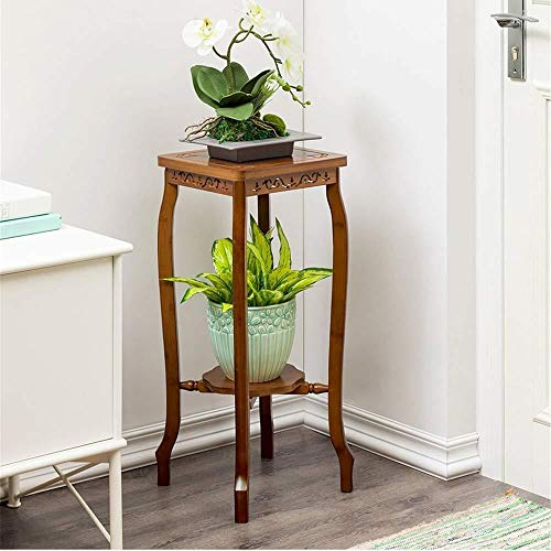 SAP- Soporte para flores de madera maciza suculenta, color verde, madera, Color de la foto, Two-tier