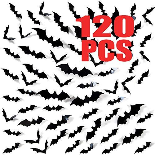 120 Pack Halloween 3D Bats Decorati…