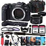 Canon EOS RP Mirrorless Camera with EF 50mm f/1.8 STM Prime Lens + 256GB Memory + Extension Grip + Photo Editing Software + Accessory Bundle (27pcs) (Renewed)