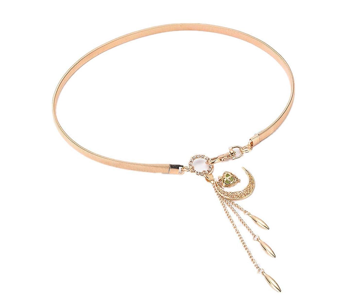 Fashion retro lady moon hook hook gold pendant waist chain dress decoration