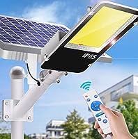 ソーラーストリートライト屋外、太陽セキュリティ街路灯1000K、防水IP65、太陽電動街路洪水ライト、リモコン付き屋外照明,1000led