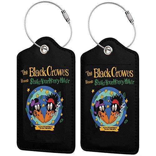 The Black Crowes - Etiquetas de piel para equipaje (4 unidades)