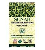 radico 100% Natural sunab Dark Brown 100% Natural bio Organic hairc olor