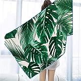 AlanRoye 31.5 x 63 Inches Microfiber Beach Towel Leaf...