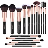 BESTOPE Make Up Pinsel Set Premium Pinselset Kabuki Kosmetik Makeup Pinsel Synthetisches Haar Schminkpinsel Set Lippenpinsel Gesichtspinsel Set 18 Stück (Rose Gold)