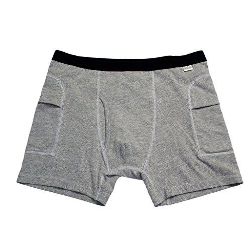 F Fityle Herren Hose Protective Shorts Hüftschutzhose Hüftschutzhosen Unterhose mit Einlagen - Grau, M