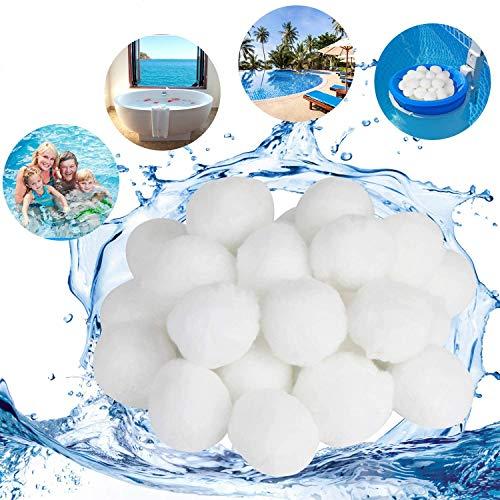 KATELUO 300G / 500G Filtros,Filtro de la Piscina,Bola de Filtro para Piscina,Buena Permeabilidad al Agua y transpirabilidad, Ser Reutilizable (500g, Blanco)