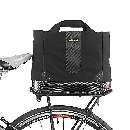 Ibera 2 in 1 Bike PakRak Insulated Cooler Trunk Bag, Bicycle Shopping Bag for Grocery, Hand/ Shoulder Bag