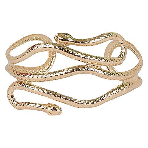 PPX Schlangen Armband Schlangenarmreif Gold Schlangenarmband Schlangen Armreif Cleopatra Ägypterin Kostüm