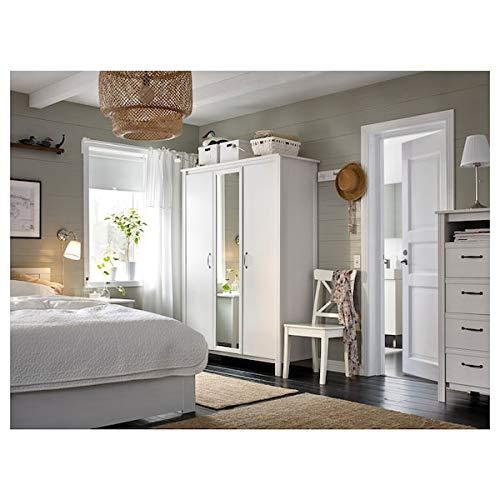 DiscountSeller INGOLF - Silla, color blanco, 43 x 52 x 91 cm resistente y fácil de cuidar, sillas de comedor, sillas, muebles y ambientales