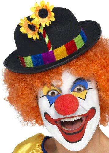KULTFAKTOR GmbH Clown Hut Melone Blume schwarz-bunt E