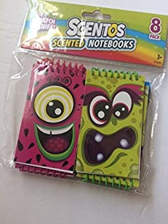 Scentos Scented Notebooks 8 pack