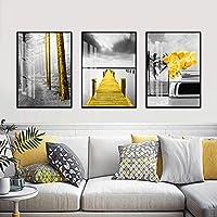 壁アート、3pcsキャンバス絵画中国風インク芸術的風景ホームリビングルームキッチンの装飾寝室オフィスモダンアートワークポスタープリント