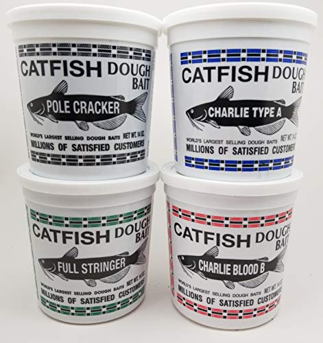 Catfish Charlie Dough Bait Variety Pack, 14oz Tubs