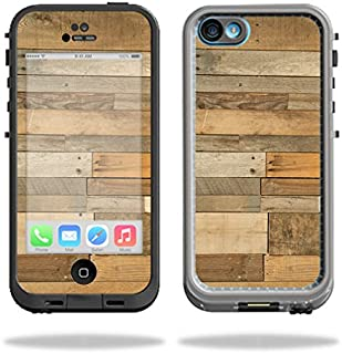 MightySkins Protective Vinyl Skin Decal Compatible with LifeProof iPhone 5C Case fre Case wrap Cover Sticker Skins Reclaimed Wood