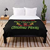 Drink Merry I to Chocolate Funny Cute and Watch Movies Christmas Just Chocolat Hot Want I Movies- Plush Fleece - Sherpa - Woven - Arctic Fleece - Premium Mink Sherpa Cozy & Plush Blanket - Customize