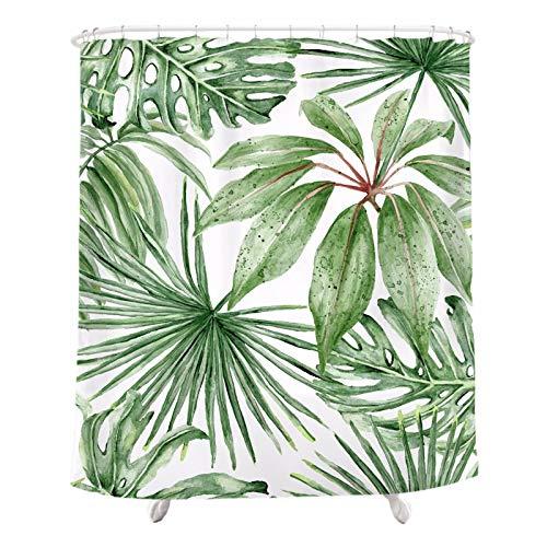 PEIWENIN Rideau de Douche Salle de Bain Polyester moisissure imperméable à l'eau épaississement Isolation Rideau de séparation Motif de Plantes, Largeur: 180cm * Hauteur: 180cm