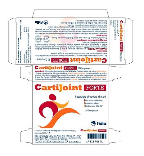 CartiJoint Forte | Integratore alimentare per il benessere delle articolazioni | Glutine e lattosio free | Confezione da 20 compresse