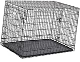 Big &Adult Dog Heavy Duty Dog Crate Strong Metal Large Dog Cage 42 INCH Black Colour 251